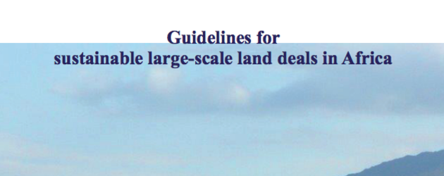 Guidelines for sustainable large-scale land deals in Africa