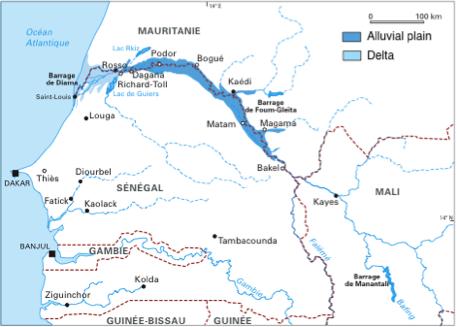 Kayor Map Of Senegal West Africa on